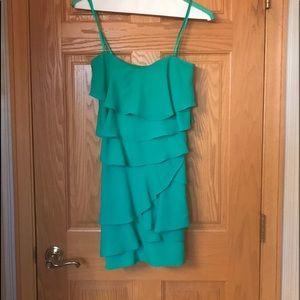 Green Strapless BCBG Dress